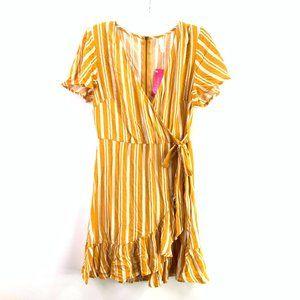 Xhilaration White/Yellow Dress Small #D1-103